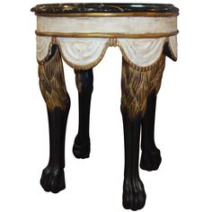 Lion leg table by Dennis and Leen | From a unique collection of antique and modern side tables at http://www.1stdibs.com/furniture/tables/side-tables/