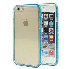iPhone 6 Bumper Case, Premium 2 in 1 Glossy Diamond Rhinestone Aluminum Metal Bumper Case Frame with Shock-Absorbing Protective Transparent Clear TPU Back Cover for Apple iPhone 6 6S 4.7 Inch (Blue) NOVT http://www.amazon.com/dp/B016RU614K/ref=cm_sw_r_pi_dp_CTZlwb0SGBAHM