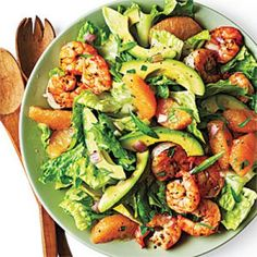 Shrimp, Avocado, and Grapefruit Salad | CookingLight.com