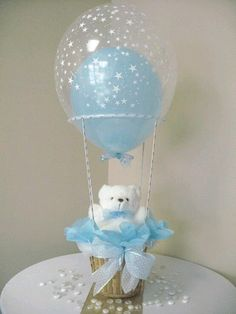 Baby boy baptism centerpieces teddy bears Ideas for 2019 Boy Baptism Centerpieces, Baby Shower Table Decorations, Balloon Decorations, Balloon Centerpieces, Teddy Bear Baby Shower, Baby Boy Shower, Baby Shower Gifts, Baby Party, Baby Shower Parties