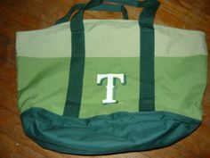 6fa52719fa6 Texas Rangers Reusable Tote Bag Green Pre-Owned Free Shipping! Great for  Games