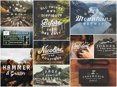 Typework . Graphic Design . Title . Logo . Vintage . Mountain .
