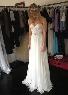 Annie Wedding Gown Silk Hand Gathered Bustier Gown with by reddoll, $1295.00