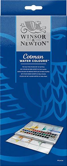 Winsor Newton Cotman Watercolor Studio Set 45 Half Pans