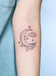 From the tattoo art point of view, the moon is a very beautiful tattoo pattern