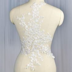 Ivory Bridal Wedding Lace Applique Floral Flowers Embroidered Lace Applique Exquisite Wedding Dress Bridal Veil Applique 1 pcs The listing is for 1 pcs Wholesale Available For more quantity, please feel free to convo me. Diy Wedding Dress, Applique Wedding Dress, Wedding Fabric, Applique Dress, Bridal Dresses, Wedding Lace, Gown Wedding, Elegant Wedding, Wedding Bride
