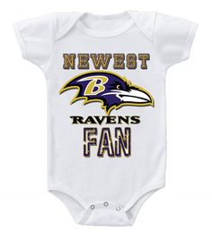 NEW Football Baby Onesie Creeper NFL Baltimore Ravens