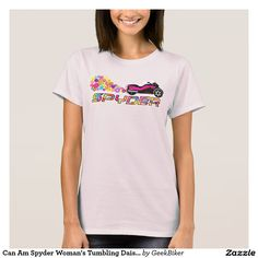 Can Am Spyder Woman's Tumbling Daisy w/ Text Shirt