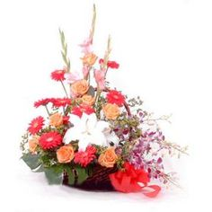 http://www.shop2hyderabad.com/gorgeous-flowers-basket.htmlThe Gorgeous Flowers Basket is a Gorgeous Arrangement of Beautiful Fragrant Flowers in a Basket. This is Available in Shop2Hyderabad. This Riot of Colors Will Surely Cheer Up the Day of your Loved Ones.