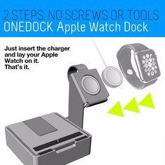 The optional Apple Watch Dock 2 Steps. No screws. No tools.  ONEDOCK for all smartphones, tablets & even apple watch.one-dock.com #getonedock #onedockforall #apple #samsung #htc #oneplusone #iphone #ipod #ipad #htcone  #wood #applewatch #applewatchdock #luxury #luxus #luxo #kickstarterstaffpick #kickstarter #startup #staffpick #backer #mashpics #madewithkickstarter #gadget #gadgets #gadgetflow