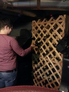 Homemade wine rack!!!