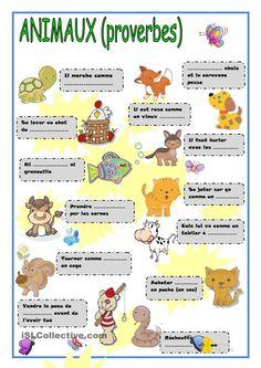 Les proverbes avec les animaux