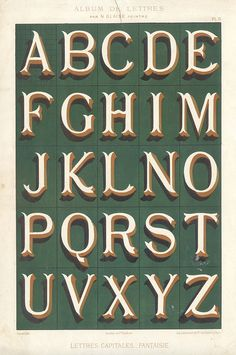 1882 lettering via pilllpat (agence eureka) Types Of Lettering, Lettering Styles, Lettering Design, Typography Alphabet, Typography Fonts, Signwriting, Vintage Typography, Calligraphy Letters, Letters And Numbers