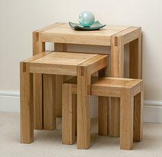 Alto Solid Oak Nest of Tables