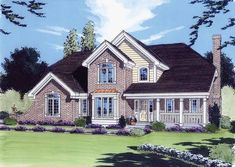 Country House Plan with 2576 Square Feet and 4 Bedrooms from Dream Home Source | House Plan Code DHSW49681