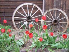 408 besten wagenr der dekorieren bilder auf pinterest rustic gardens wagon wheel und - Wagenrad dekorieren ...