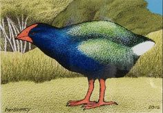 Don Binney Motutapu Takahe release III Parnell Gallery… Thinking In Pictures, Bird Artists, New Zealand Art, Maori Art, Kiwiana, Wildlife Art, Art Gallery, Gallery Walls, Art Images