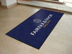 Stunning logo mats on route to Fairfax & Favor.