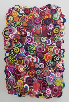 View this item and discover similar abstract paintings for sale at - Colombian-American artist, Omar Chacon is well known for his unique process. His paintings, made from acrylic on canvas, shine and brim with color and Collages, Classroom Art Projects, Acrylic Pouring Art, Magazine Crafts, Quilling Paper Craft, Dot Painting, Abstract Paintings, Hippie Art, Quilling Designs