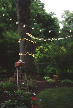 Garten-Verlobungs-Party