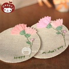 ImageFind images and videos on We Heart It - the app to get lost in what you love. Felt Crafts Diy, Felted Wool Crafts, Felt Diy, Crafts To Sell, Fabric Crafts, Sewing Crafts, Sewing Projects, Cute Coasters, Felt Coasters