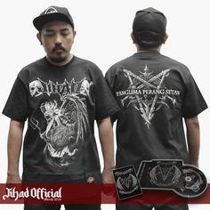 Official : Jihad Death Metal (Merch 2016) T-Shirt : Panglima Perang Setan Size : M - L - XL - XXL (Import) Price : Rp. 175.000,- (Exclude Shipping) Plus : CD Jihad - Origin Of The Rebels Angels & Sticker Vinyl (8cm x 12cm) Order : 085222090666 / 085723321707 Pin : 2A1DF4D1 / 54C5312B Instagram : https://www.instagram.com/jihadeathmetal/