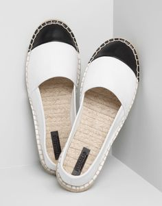 Pull&Bear - woman - women's footwear - white espadrilles - white - 15015311-I2014