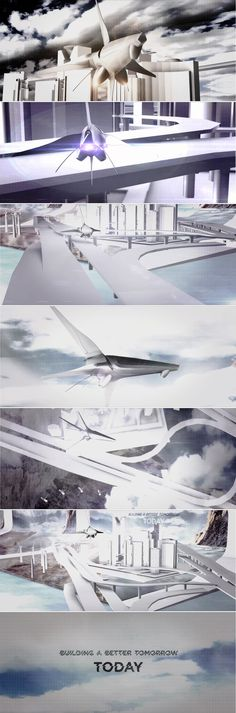 Building Tomorrow Style Frames | This presentation video component for an architectural exhibition was designed to show the growth a futuristic environment. Brand Marketing Strategy, Presentation Video, Creative Video, Media Design, Futuristic, Frames, Environment, Architecture, Building