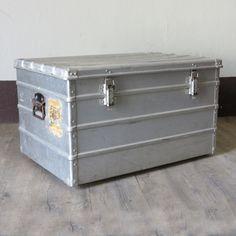 Vintage Aluminium Koffer 1940 - 1950.