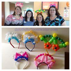 Princess tiara balloon hairbands