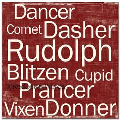 Reindeer Names at Christmas Merry Little Christmas, A Christmas Story, Country Christmas, Winter Christmas, Xmas, Simple Christmas, Santa And Reindeer, Reindeer Christmas, Christmas Crafts