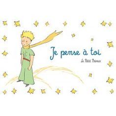 Carte postale Le Petit Prince - Je pense à toi Tu Me Manques Énormément, Quotes Francais, Nouvel An Citation, Life Guide, Daddy, Animal Posters, The Little Prince, Victor Hugo, Baby Shark