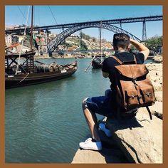 Shooting in progress in Porto  #backpack #backpacks #sacados #rucksack #rucksacks #bag #bags #porto #pitti #pu90