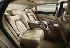 New Maserati Quattroporte interior - rear indidual seats