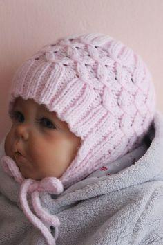 Babymütze stricken ++ mit Ohrenklappen dran