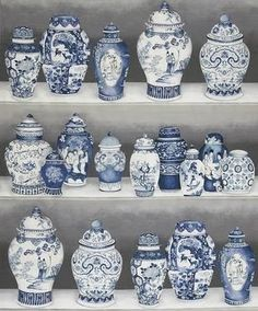 If you are in love with blue and white Chinese porcelain as I am, what about porcelain print fabric or wallpaper? This new Pierre Frey Mac...