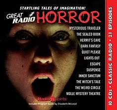 Great Radio Horror (Old Time Radio):   The screams…the grisly sound effects…the rumbling organ music. Sounds in the dark come strange, mysterious, and terrifying in twenty-one episodes of such classic series as Lights Out, Inner Sanctum, Suspense, and many more. Spine-chilling tales by Edgar Allan Poe, Guy de Maupassant, Arch Oboler, Robert A. Arthur, David Kogan, and Alonzo Deen Cole dabble in dark realms. Boris Karloff, Maurice Tarplin, Paul McGrath, and Bernard Lenrow deliver pulse-...