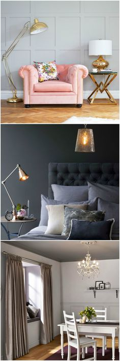 Jacquie Dunton, co-founder of Sweetpea & Wilow says: 'A statement piece of lighting can finish the theme of a room beautifully. Consider what colour your theme is & introduce a key shade through the lighting such as a pop of green or copper finish. Alternatively, simple natural woods or exposed bulbs will give you that Scandi feel.' Find more advice at housebeautiful.co.uk.   Where to buy:  1. Sweetpea & Willow http://fave.co/2awYSmg 2. Pooky http://fave.co/2aA57CU 3. B&Q…