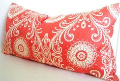 Orange Lumbar Pillow Pillow with Orange Bohemian by CityGirlsDecor, $30.00