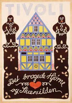 Van Sabben Poster Auctions - poster browser Kingdom Of Denmark, Tivoli Gardens, Scandinavian Modern, Trending Topics, Hygge, Copenhagen, Auction, Van, Kids Rugs