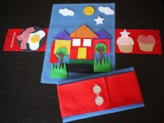 The Mucky MacBook: More Fun with Felt... Fold & Button Playmats