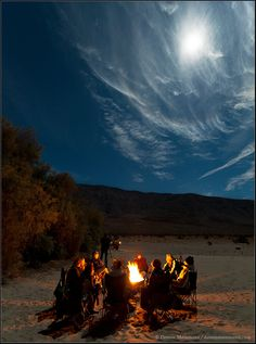 """Campfire by Moonlight"" by Dennis Mammana"