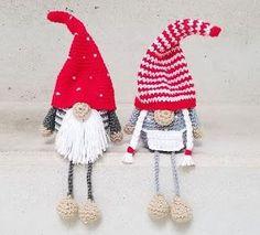 Crochet Christmas Decorations, Christmas Crochet Patterns, Christmas Knitting, Crochet Patterns Amigurumi, Crochet Dolls, Christmas Gnome, Christmas Crafts, Crochet Decrease, Crochet Bookmarks