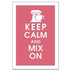 Mix on - perfect for me and my pink mixer :)