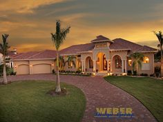 Tuscan Style Homes | Tuscan House Plan | Villa Napoli House Plan - Weber Design Group