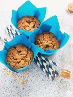 Jaleo en la Cocina: Muffins de avena y arándanos, ¡están deliciosos!