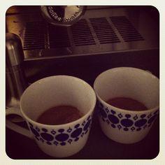 Finally two good cuppas Espresso...