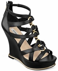 Guess has an erogenous caged platform wedge sandal that I just can't resist. I personally bought these beauties on a recent shoe haul at Macy's.