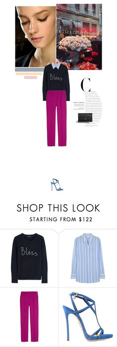 """Blue + Magenta"" by giam783 ❤ liked on Polyvore featuring J.Crew, Equipment, Emilio Pucci, Dsquared2 and Akris"