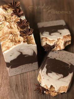 Sweet Spiced Mocha ~ Handmade Cold Process Soap - Home Made Soap Handmade Soap Recipes, Handmade Soaps, Diy Beauté, Coffee Soap, Sweet Spice, Soap Packaging, Cold Process Soap, Home Made Soap, Soap Making